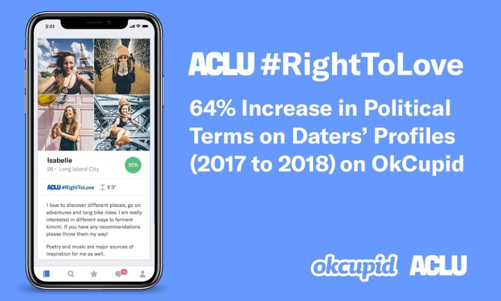 OkCupid Partners with ACLU to Support Justice and Connect